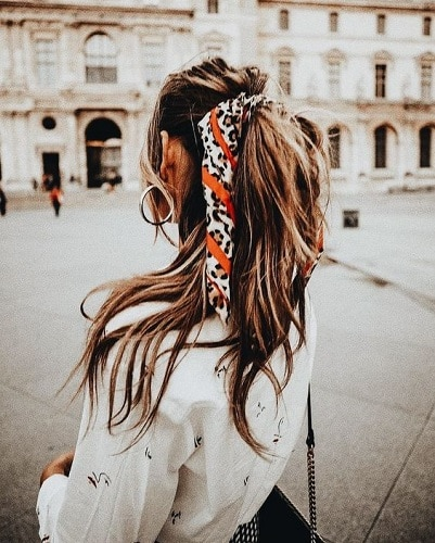 easy casual hairstyles headsccarf