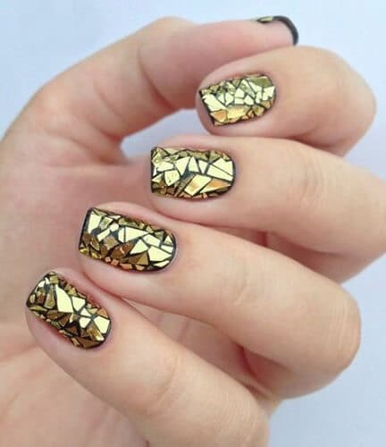 Nail Art Designs Gold Hession Hairdressing