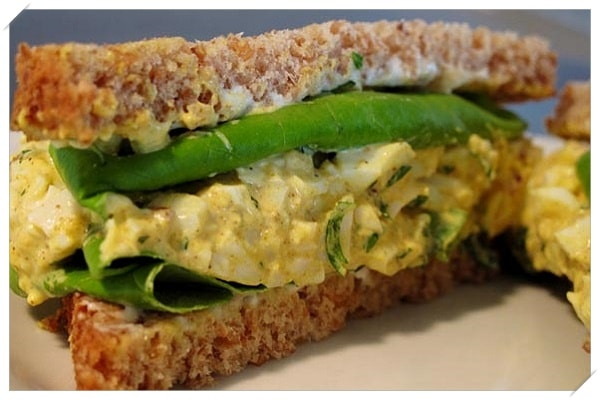 healthy weight loss recipes egg salad sandwich