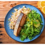 healthy weight loss recipes salmon with arugula
