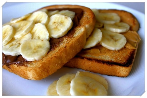 healthy weight loss recipes toast banana almond butter