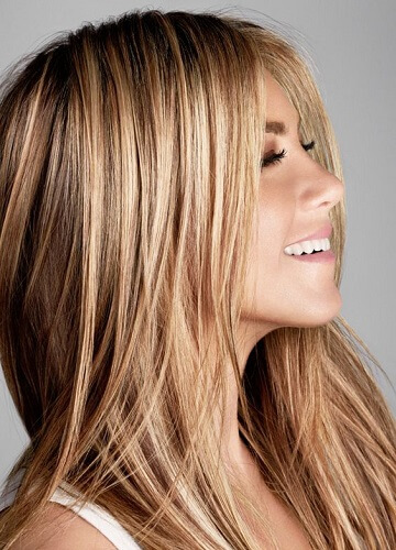 jennifer aniston best hairstyles for heart shaped faces