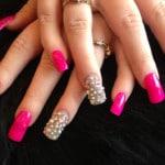 nail designs with rhinestones ideas