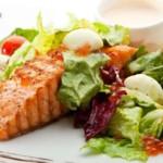 salmon and kale salad