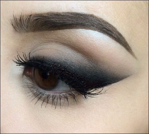 Smudged out liner makeup style with eyeliner