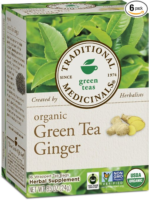 Traditional Medicinals Organic Green Tea Ginger Review