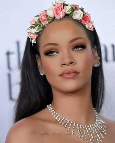 best eyebrow shape for square face soft angled brow rihanna