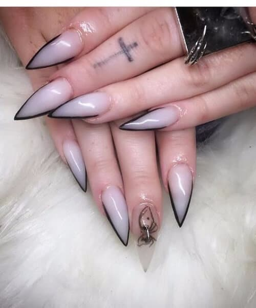 claw nail designs nude