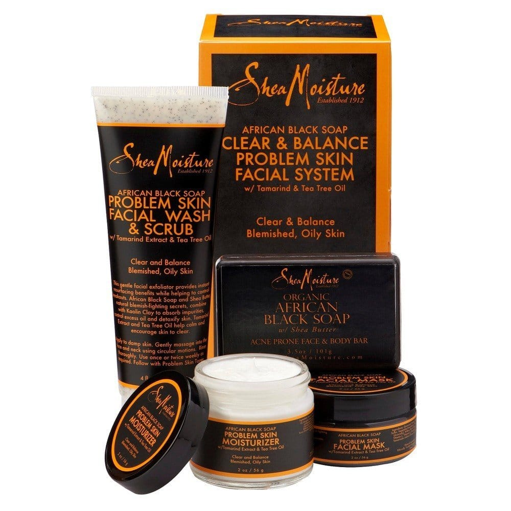 SheaMoisture African Black Soap Facial Care Kit review