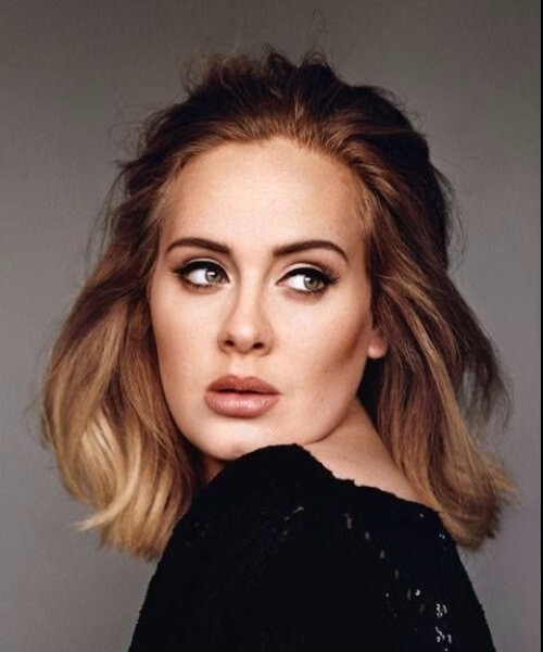 best hairstyles for round faces adele ombre bob