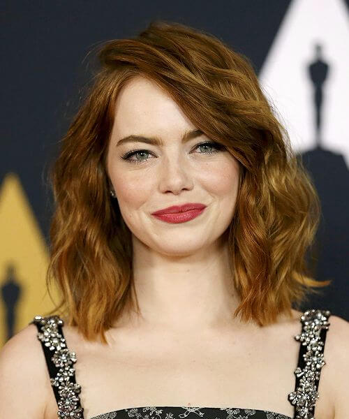 best hairstyles for round faces emma stone round lob