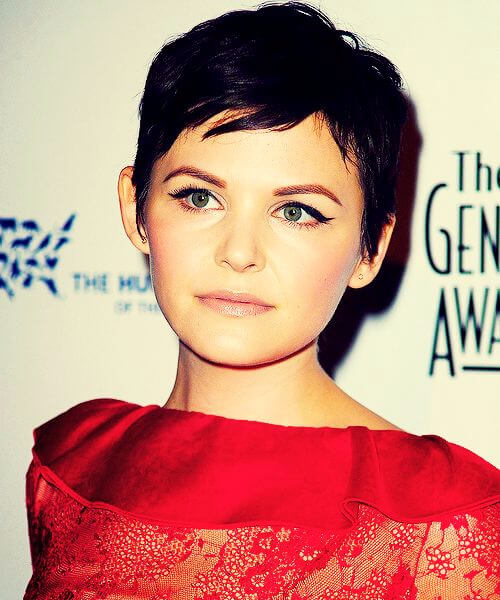 best hairstyles for round faces ginnifer goodwin pixie cut