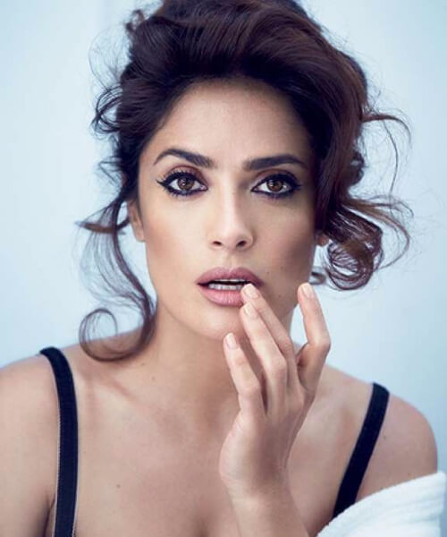 best hairstyles for square faces salma hayek side bangs