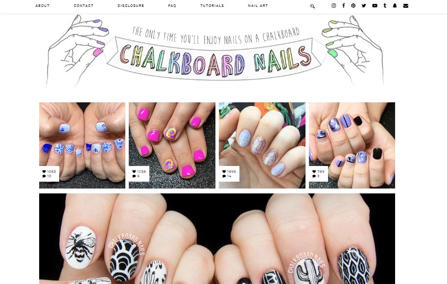 best nail art blogs chalkboard nails sarah waite