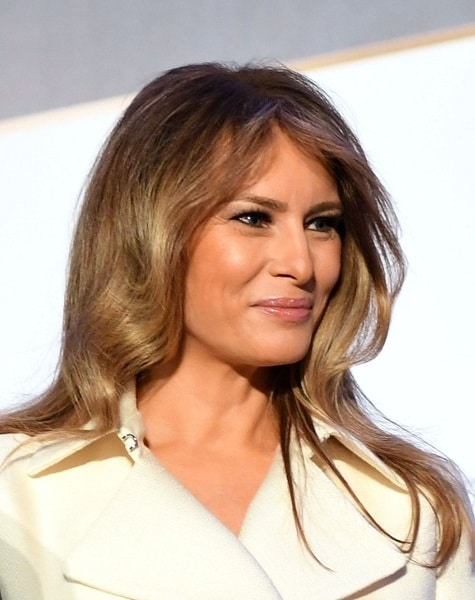 Melania Trump with long hairstyle