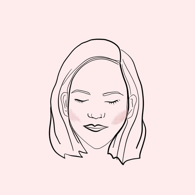 contour face chart diamond shaped face