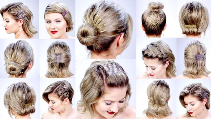 how to use bobby pins hairstyles and beauty hacks