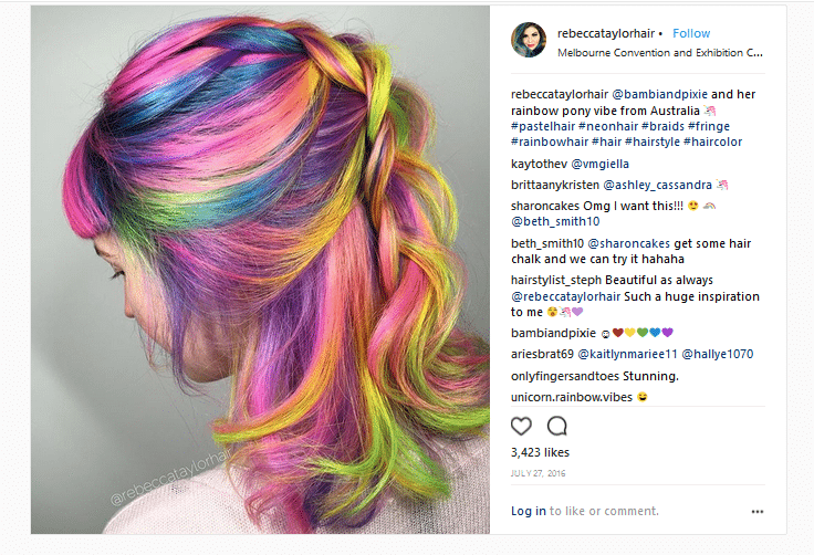 rebecca taylor hair colorists instagram account