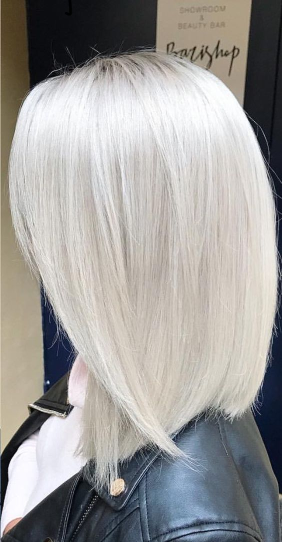 white silver hair color ideas