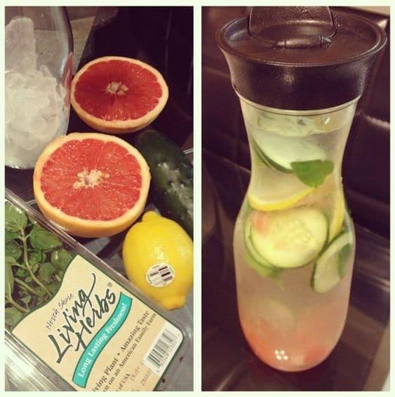 cucumber, grapefruit and lemon detox water
