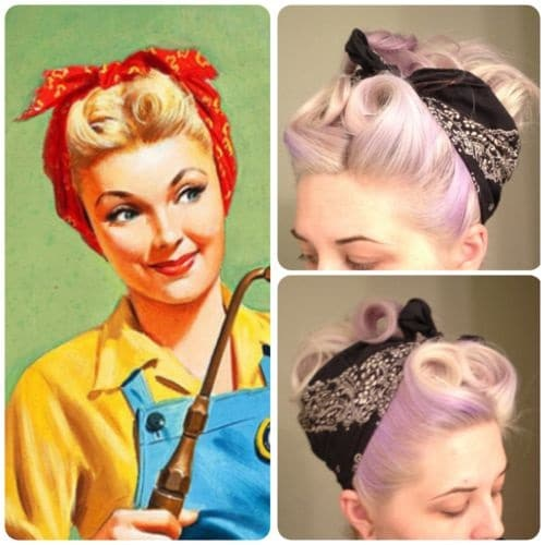 rosie the riveter hairstyle