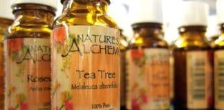 Tea tree oil bottles