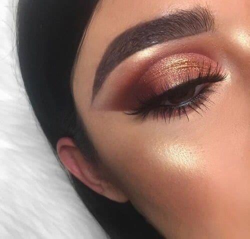 copper makeup look