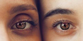 Eyes of two women side by side