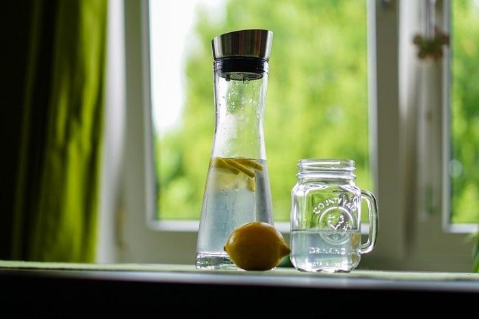 Detox water in special bottle