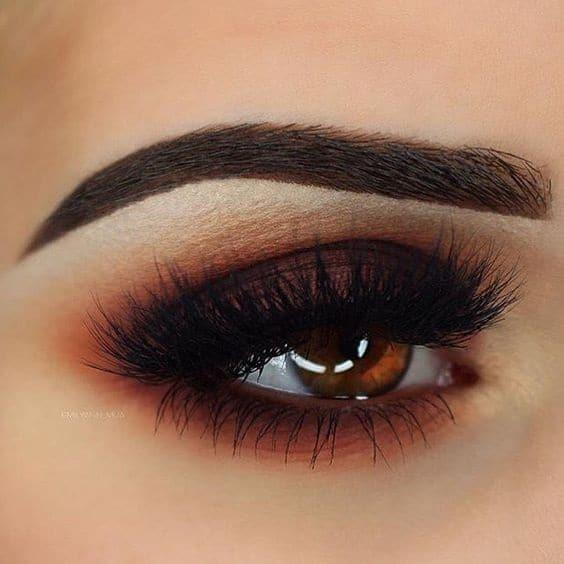 dark orange and brown look