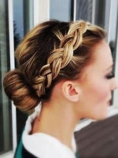 romantic braided headband