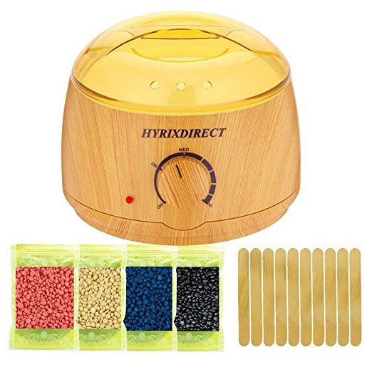 Hot Wax Warmer Hair Removal Kit Wood Pattern Product Review