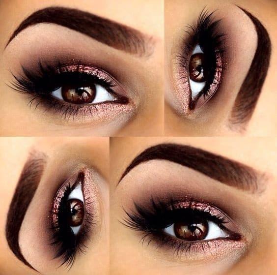 rose gold smoky eye
