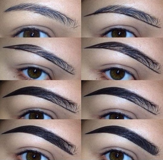 fuller eyebrows with makeup