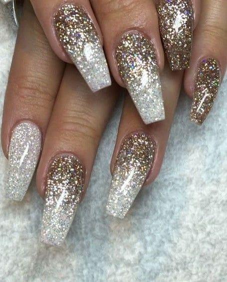 bold golden glitter