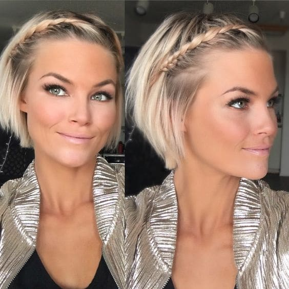 braided bangs hairstyle