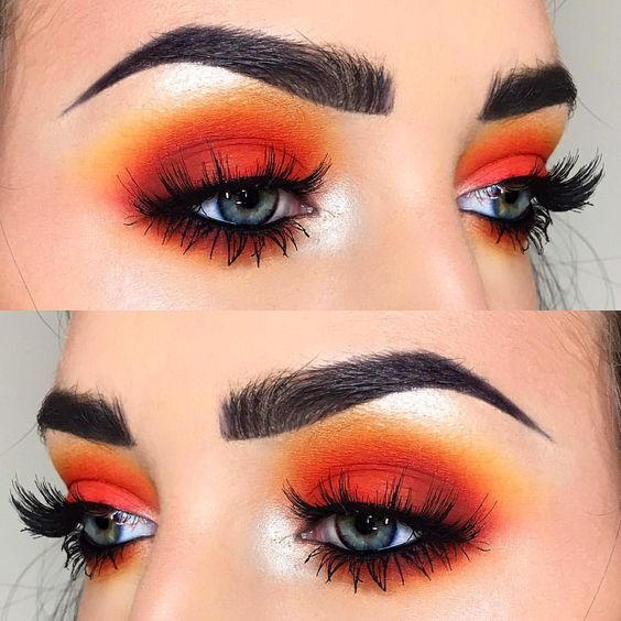 orange makeup look