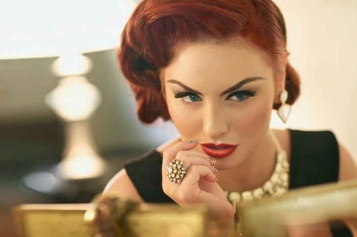 beautiful, glamorous woman