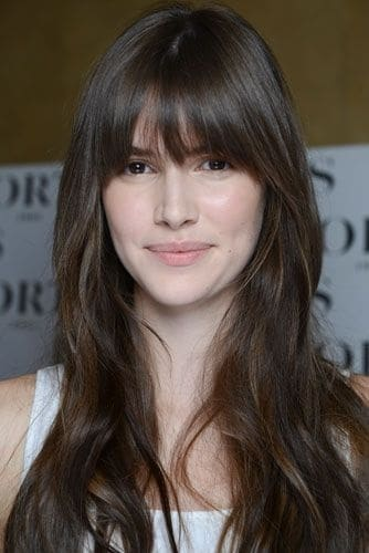 girl with straight bangs