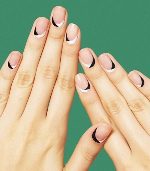 reversed French manicure