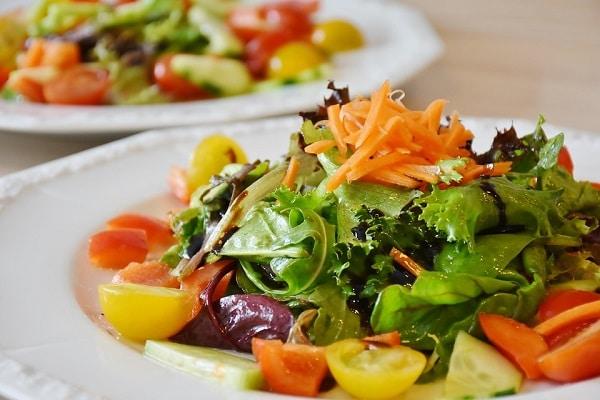 a healthy green salad