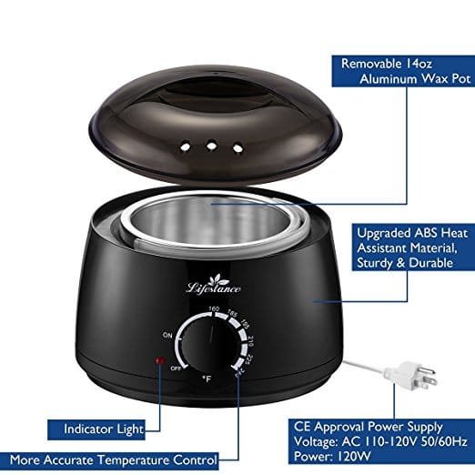 Lifestance Wax Warmer Hair Removal Kit: Product Review
