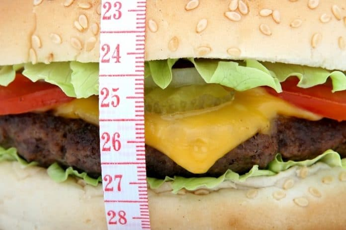 a big burger which is not good for weight loss
