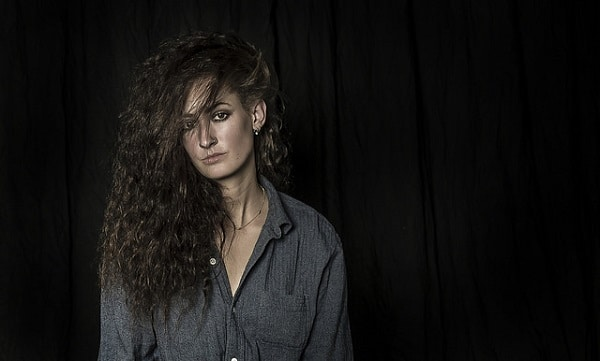 woman with curly and frizzy hair