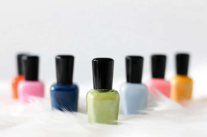 collection of nail polishes