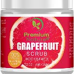 Exfoliating Grapefruit Body Scrub - Best Skin Exfoliator for Face Hand Lip & Body