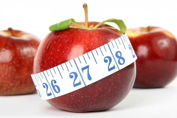 apple as a symbol of weight loss