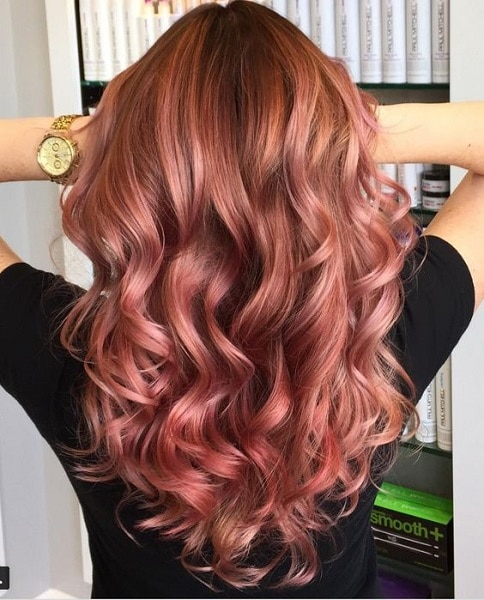 classic rose gold hair