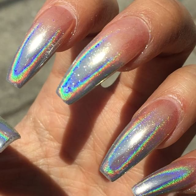 Powder Nail Polish Near Me: 14 Stunning Pictures For Holographic Nail Art Inspiration
