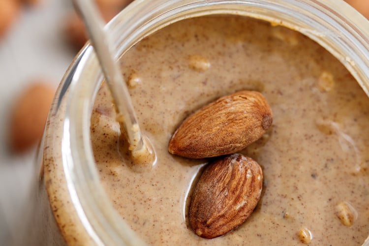 is almond better than peanut butter, is almond butter healthier than peanut butter, almond milk peanut butter smoothie, almond peanut butter, almond butter, peanut butter, almond butter calories vs peanut butter protein in almond butter, is almond butter better than peanut butter
